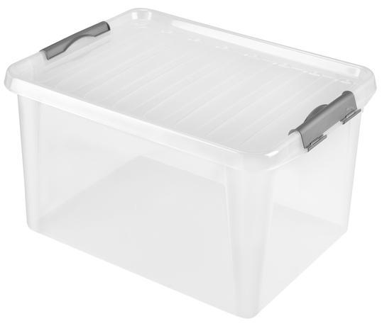Plastový úložný box s vekom HEIDRUN Clip box ...
