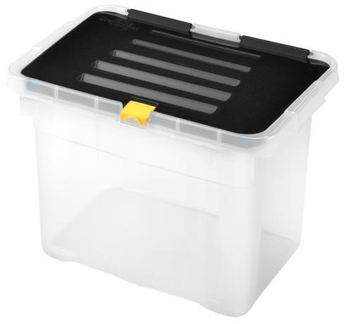 Plastový úložný box s vekom HEIDRUN One 9l