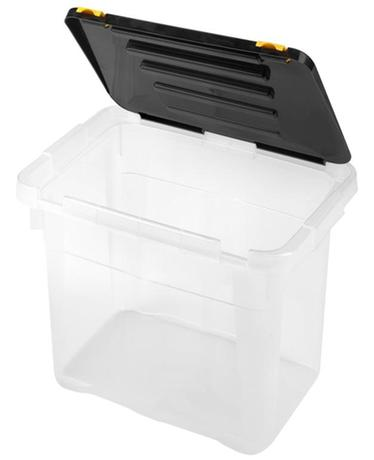Plastový úložný box s vekom HEIDRUN One 18l
