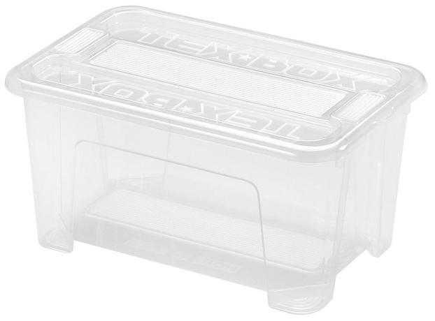 heidrun Plastový úložný box s vekom HEIDRUN TexBox 4,5l