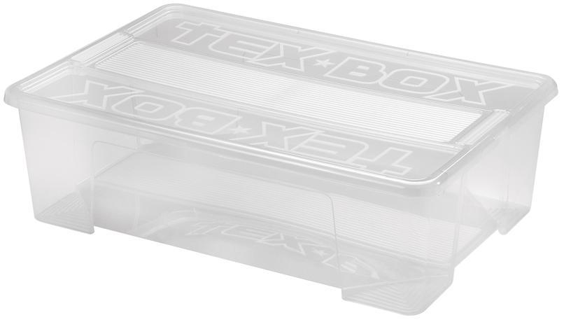 heidrun Plastový úložný box s vekom HEIDRUN TexBox 28l