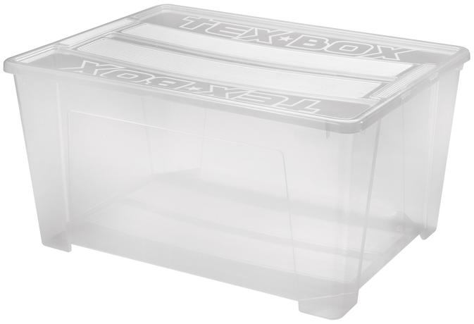 Plastový úložný box s vekom HEIDRUN TexBox 15...