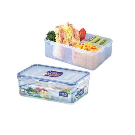 LOCKNLOCK Dóza na potraviny Lock, obdĺžnik, s priehradkami, 1 l