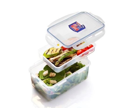 LOCKNLOCK Dóza na potraviny s priehradkou, 1,4l, transparent
