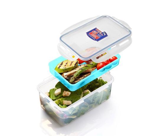 Dóza na potraviny s priehradkou, 1,4 l; modrá