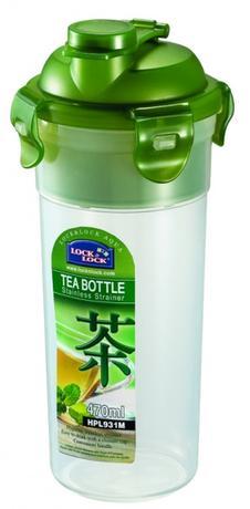 LOCK&LOCK Fľaša na čaj, nerezové sitko, 470 ml