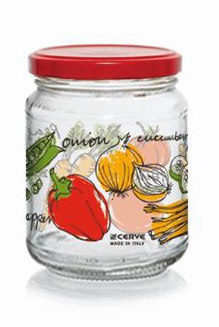Zavárací pohár s viečkom CERVE 200ml zelenina
