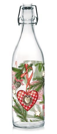 Sklenená fľaša s patentným uzáverom TORO 1l v...