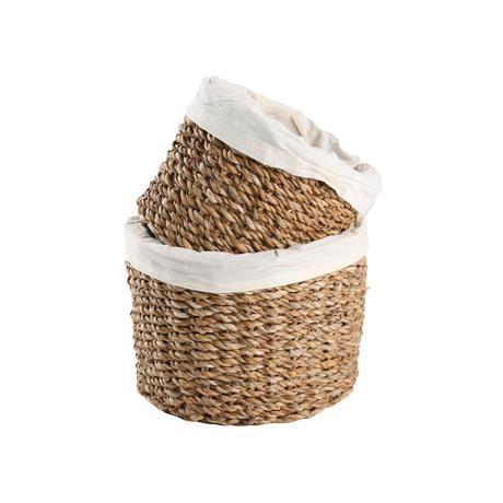Košík s podšívkou TORO 2ks morská tráva