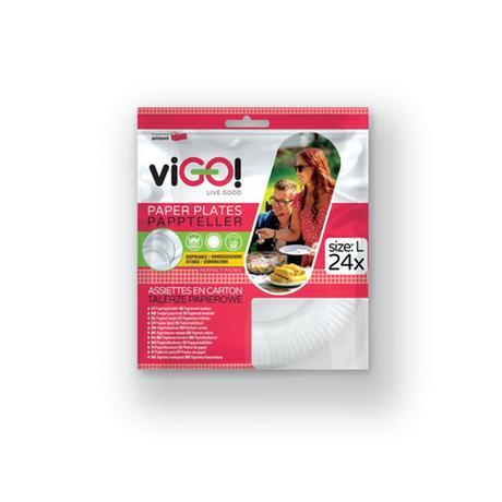 Taniere papierové VIGO! 23 cm, 24 ks